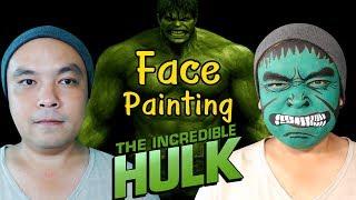 Hulk Face Painting : สอนแต่งหน้า ฮัคล์ กด HD และ คำบรรยายได้นะจ๊ะ
