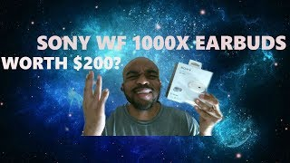 Sony WF1000X WIRELESS EARBUDS! Review and Unboxing!