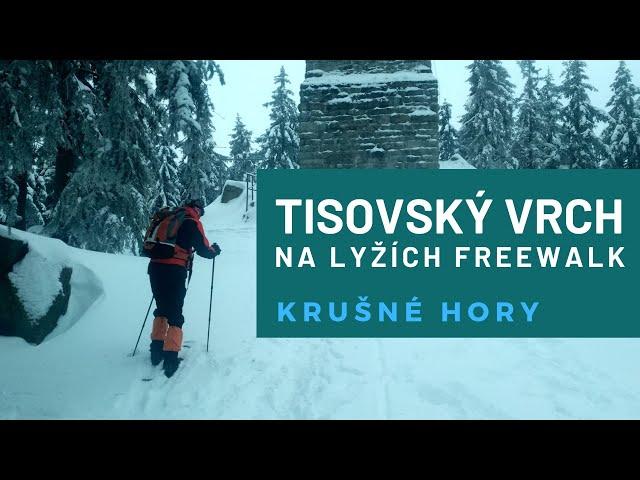 Zimní freeride z Tisovského vrchu 977 m.