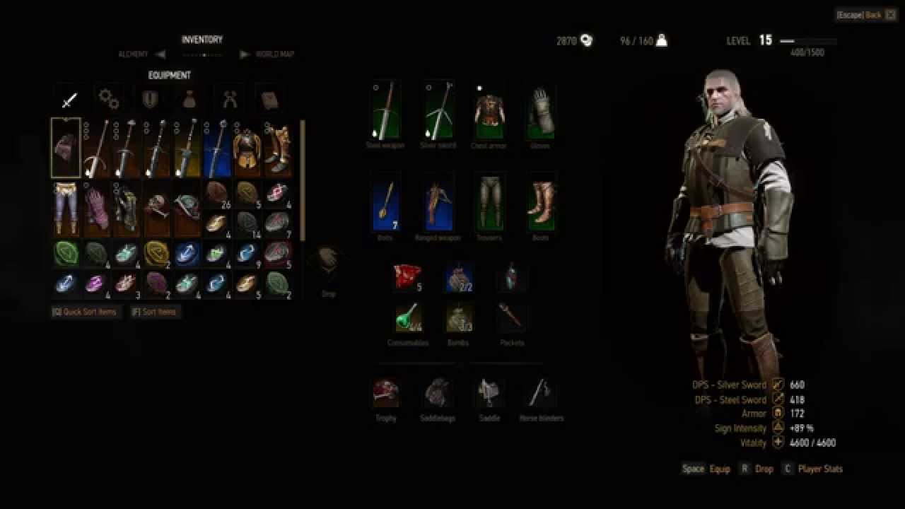 the witcher 3 how to use saddlebags