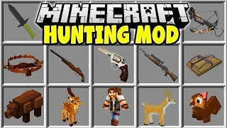 Minecraft HUNTING MOD | MINECRAFT HUNTING WEAPONS, TRAPS, ANIMALS & MORE!!