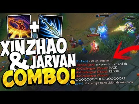 ⭐ DOBLE KNOCKS UP BOT COMBO ⭐ (Xin Zhao x Jarvan) League Of Legends thumbnail
