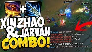⭐ DOBLE KNOCKS UP BOT COMBO ⭐ (Xin Zhao x Jarvan) League Of Legends
