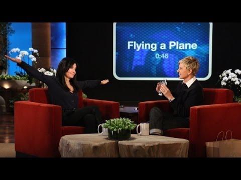 Courteney Cox Plays 'Heads Up!' with Ellen