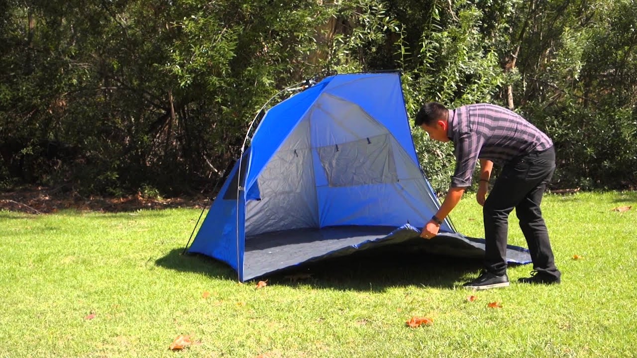 Fastest tent set-up ever! Must see! & Fastest tent set-up ever! Must see! - YouTube