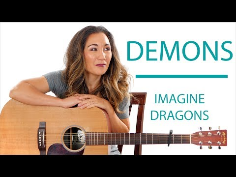 Demons by Imagine Dragons - Easy Guitar Tutorial with Play Along