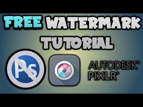 How To Make A Watermark For Your Videos For FREE! Pixlr Tutorial