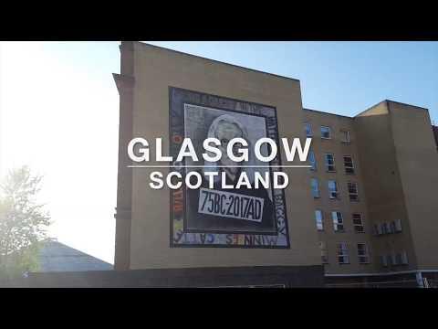 Two minutes around Glasgow, Scotland with Paul & Rachel