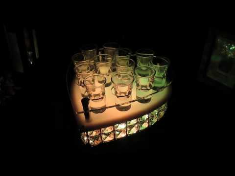 ☆[Hankaro]☆ 歐美夜店酒吧發光LED心型壓克力雞尾酒杯架~(合併批發另洽)