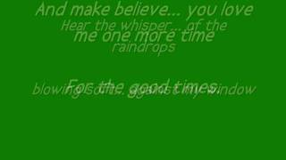 AL GREEN - For the good times ( LETRA)