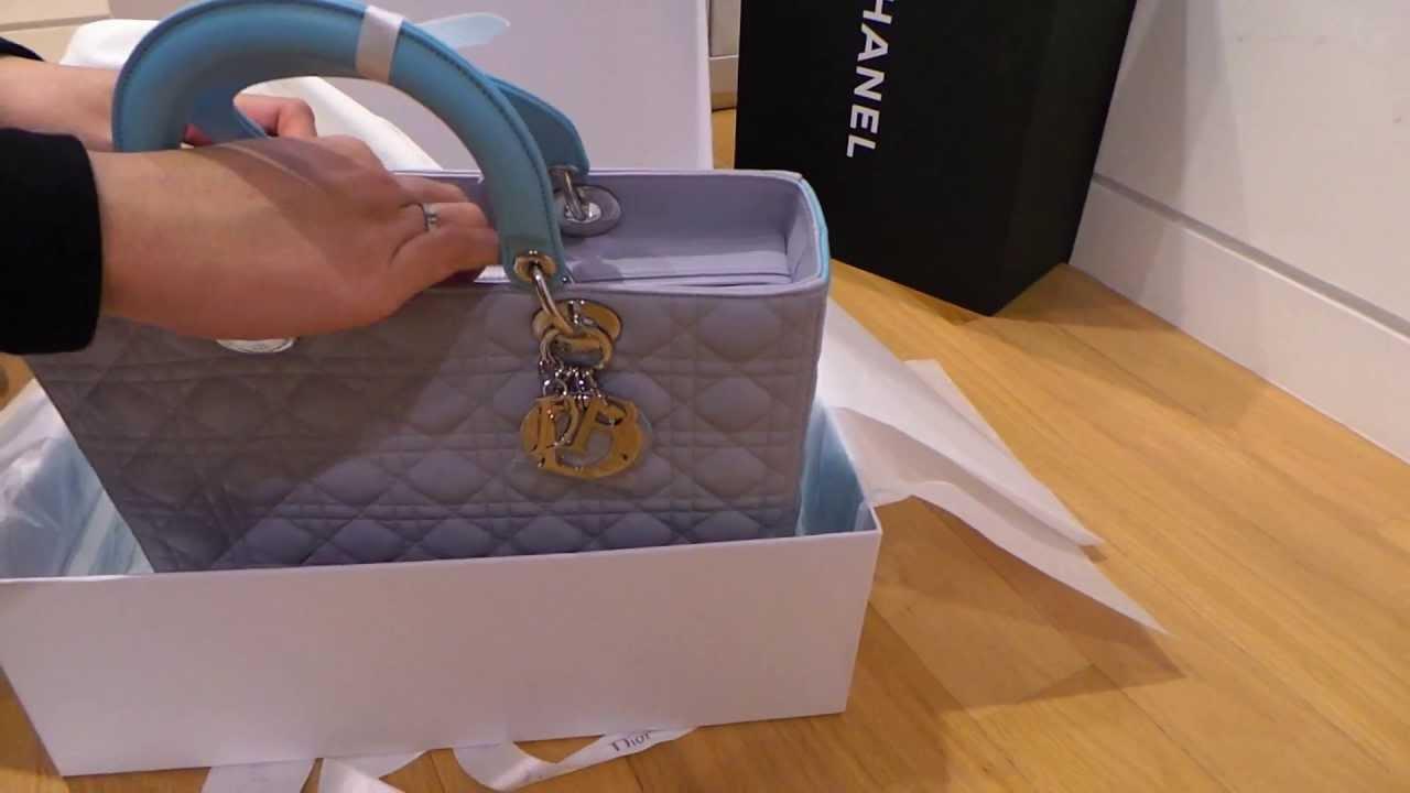 5495a1f5afef Lady Dior Bicolour Handbag Haul special edition - YouTube