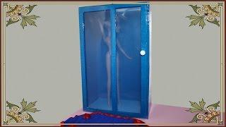 Как сделать душевую кабину , душ для кукол.How to Make a Doll Shower. cabina de ducha para muñecas(Сегодня мы сделаем душевую кабину , душ для кукол . Нам потребуется: Клей,цветной скотч,картон,прозрачный..., 2014-08-10T05:40:40.000Z)