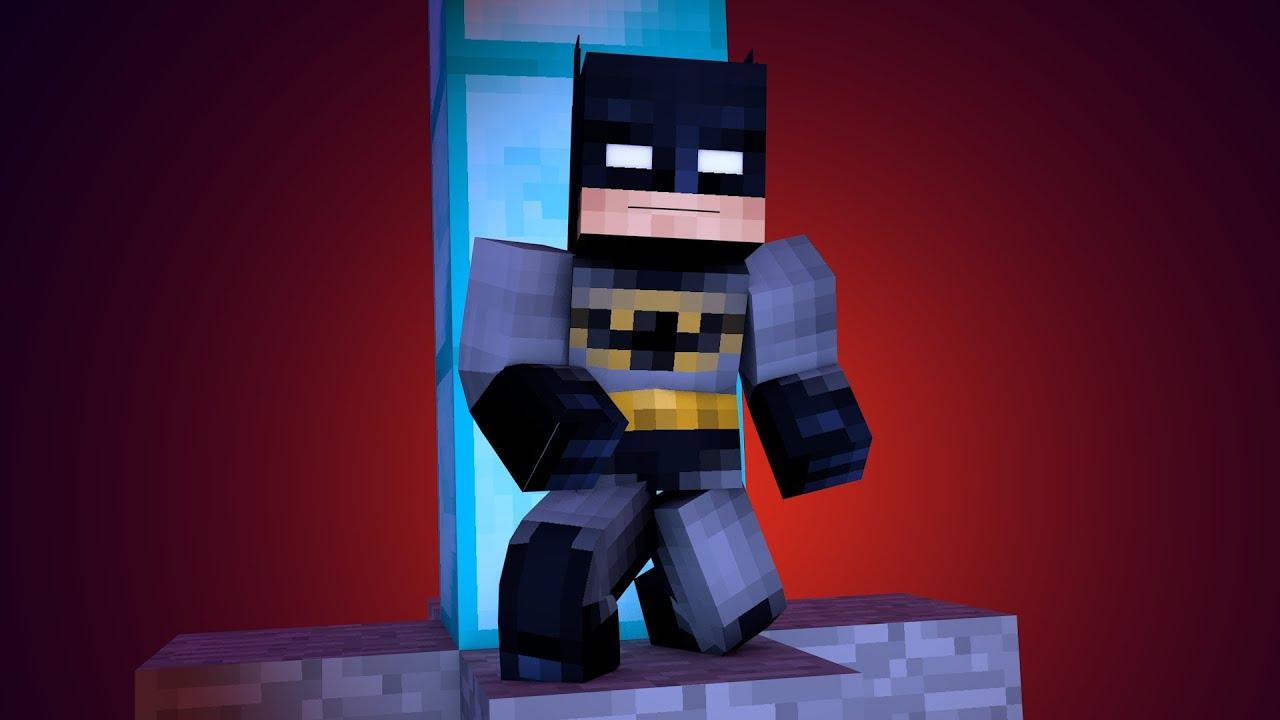 Бэтмен в майнкрафт фото