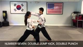Taekwondo One Step Sparring No.1 - No.14