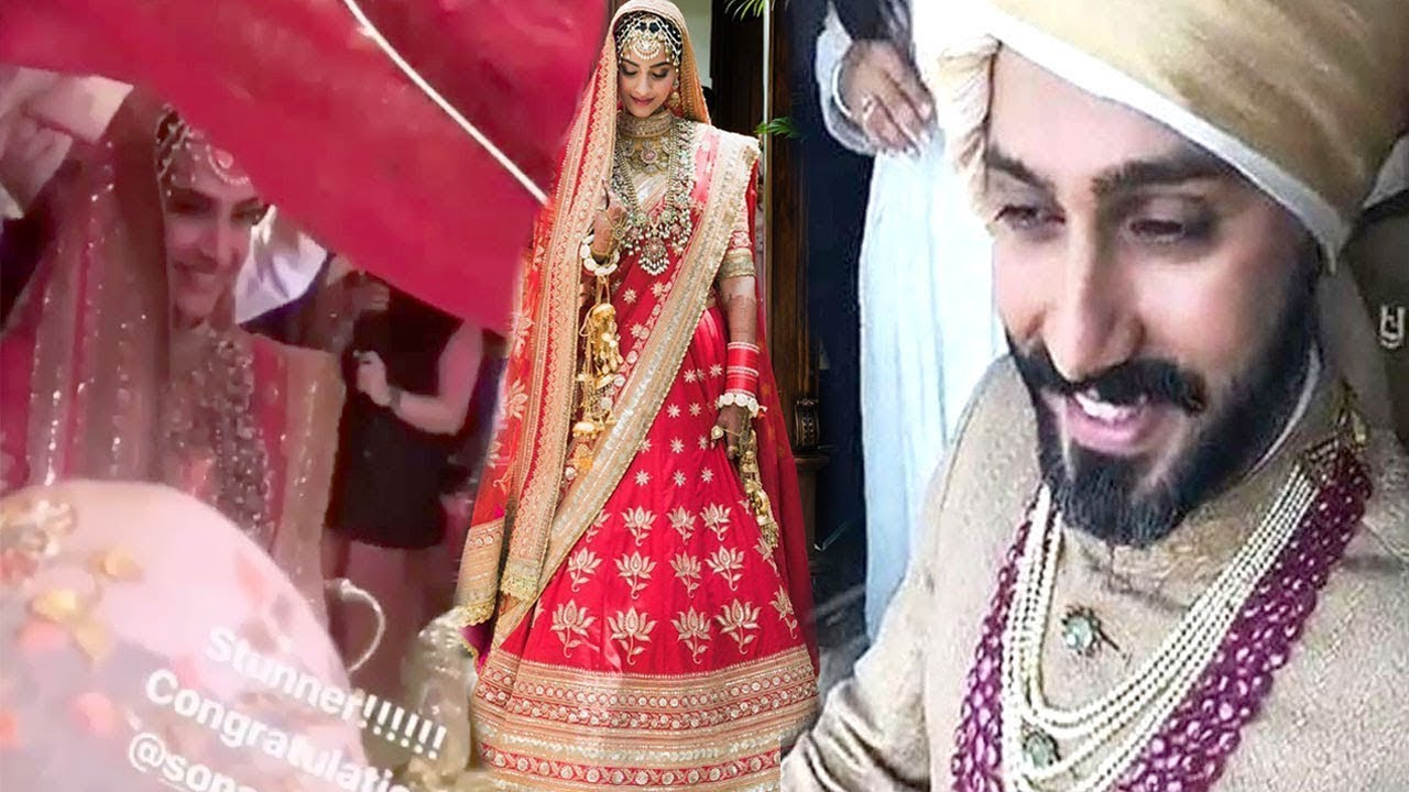 Sonam Kapoor Entry In Her Wedding   Sonam Kapoor Bride Entry - YouTube