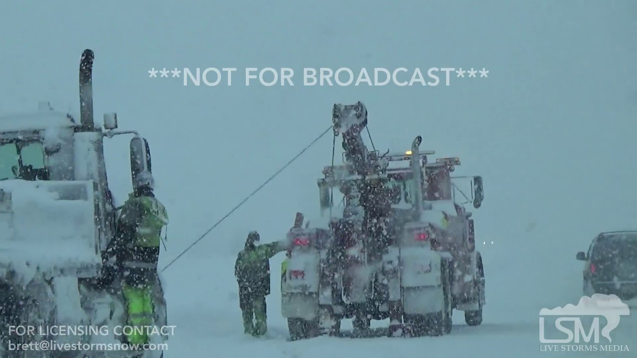 12-30-17 Erie, PA - Multiple Vehicle Accidents - I-90 Travel - Heavy Snow