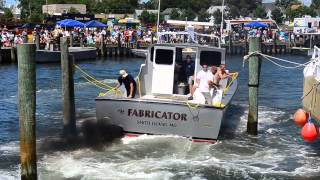 Cape Charles boat docking contest 2012 - The Fabricator