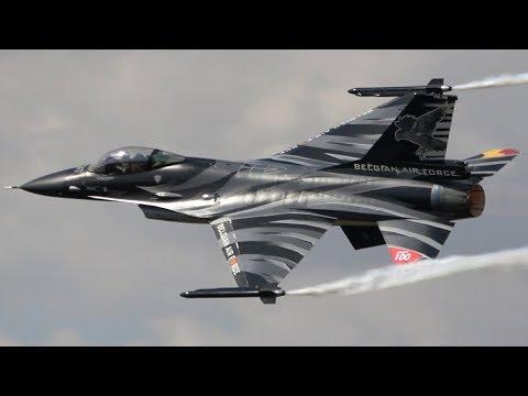 Belgian Dark Falcon F-16AM RIAT 2018 The Royal International Air Tattoo