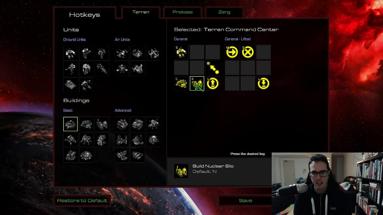 starcraft remastered how to change hotkeys