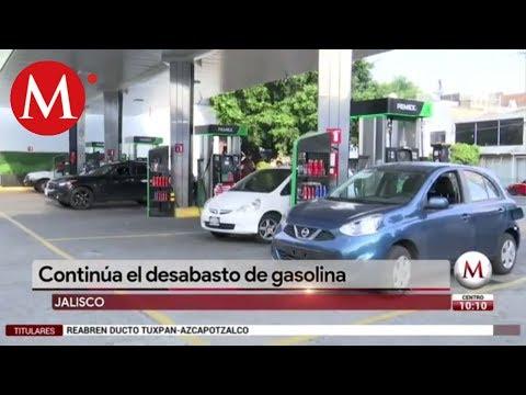 Continúa el desabasto de gasolina en Jalisco