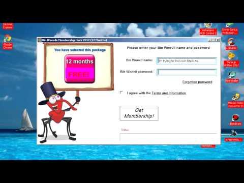 Binweevils Membership Hack 2012
