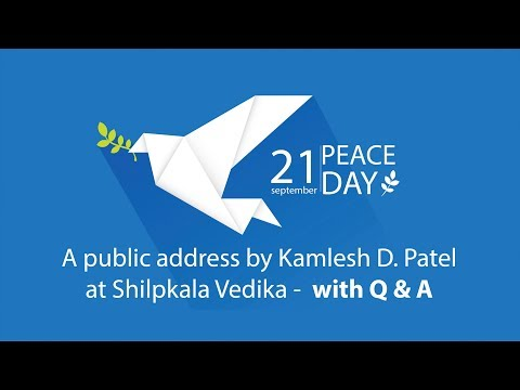 International Peace Day 2017 | Daaji's Public Address with Q&A | How Meditation Can Help