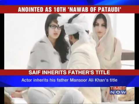 Saif Ali Khan Anointed Nawab Of Pataudi - YouTube