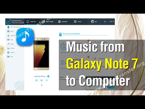 How to Copy Music from Samsung Galaxy Note 7 to Computer in 1-Click