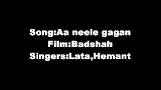 Aa Neele Gagan Tale Pyaar Hum Karein Film Badshah(1954) Lata,Hemant