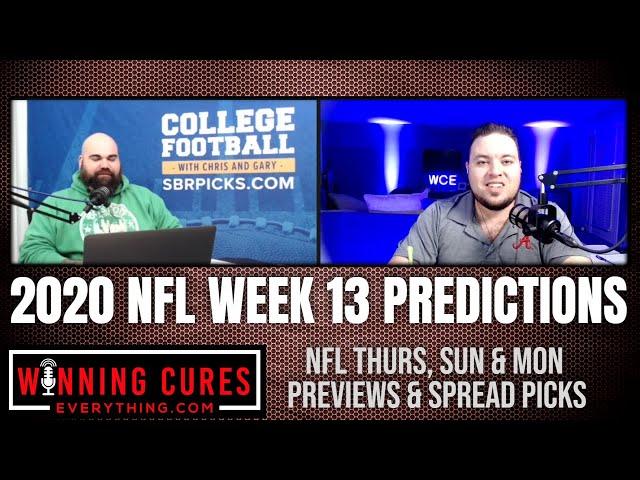 NFL 2020 Week 13 Spread Picks, Previews & Predictions