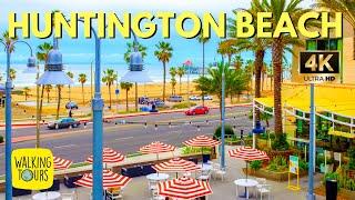Huntington Beach Pier | Pacific City | Surf City USA  | California Travel | 4K Walking Tour