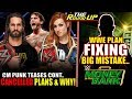 Wwe Fixing Big Mistake At Money In The Bank, Trades Cancelled & Cm Punk Fire Back - The Round Up