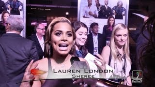 Lauren London hits the red carpet for Baggage Claim Premier