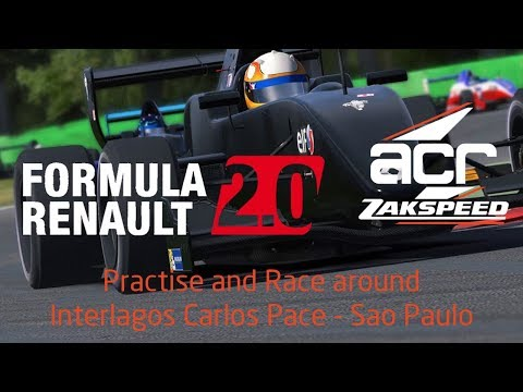 iRacing Formula Renault 2.0 around Carlos Pace Circuit at In