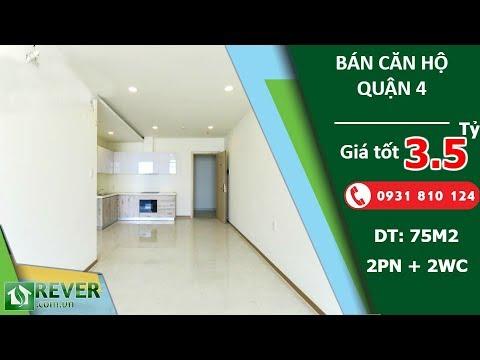 Bán căn hộ The Riva Park Quận 4, diện tích 75m2 thiết kế hiện đại 2 phòng ngủ | Rever.