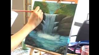 Painting a Waterfall   Acrylic