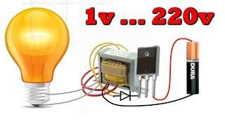 220 вольт из Севшей батарейки  😂 Да Очень Просто!
