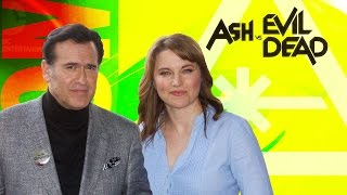 Bruce Campbell & Lucy Lawless Talk ASH VS EVIL DEAD! (Nerdist Special Report w/ Dan Casey)