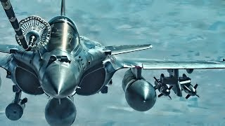 French Air Force Rafale C & USAF F-35A • Inflight Refuel