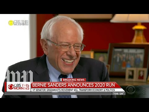 'We're going to win': Bernie Sanders announces second presidential run