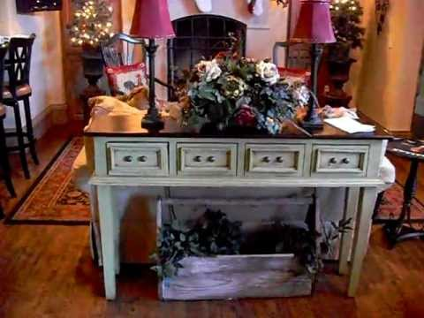 French Country Kitchen Green Sofa Table