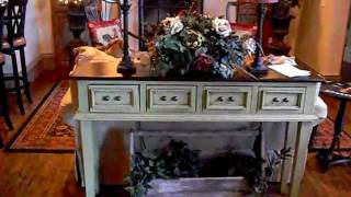 French Country Kitchen, Green Sofa Table