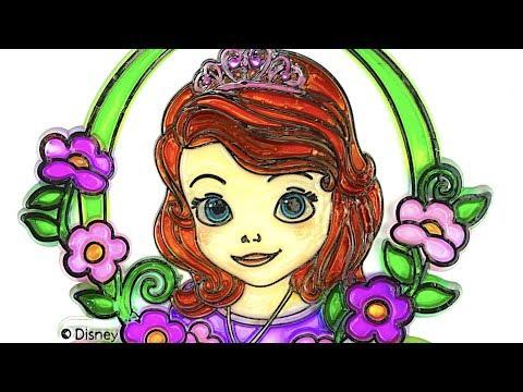 Витраж раскраска для детей  Раскрашиваем витраж София Прекрасная  Видео для детей  Детский Канал