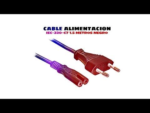 Video de Cable de alimentacion IEC-320-C7 1.5 M Negro