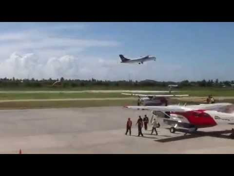 LIAT's ATR 72 on its maiden flight between Ogle and Barbados