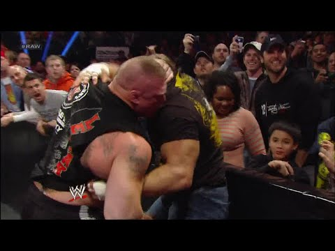 Triple H and Brock Lesnar clash during fight between Mr. McMahon and Paul Heyman