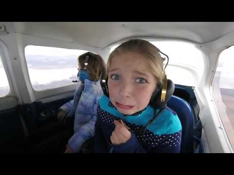 Two little girls experience Zero G's for the first time