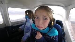 Two little girls experience Zero G