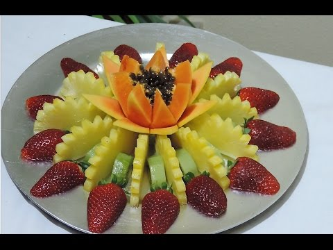 HOW TO MAKE A FRUIT CENTER, LESSON 01 - By Ja Art Carving Fruits