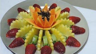 HOW TO MAKE A FRUIT CENTER, LESSON 01 - By J.Pereira Art Carving Fruits